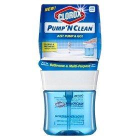 Clorox Pump Pump N Clean, Bathroom & Multi-Purpose Cleaner 12 oz, (Pack of 3)