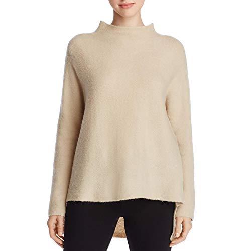 (Eileen Fisher Womens Wool Funnel Neck Mock Sweater Beige M)