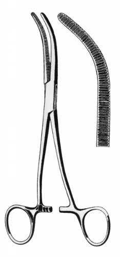 Amazon.com: dean-shallcross riñón pedicle pinzas – curvado ...