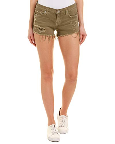 HUDSON Women's Kenzie Cut Off Jean Shorts in Worn Olive Worn Olive 27 3