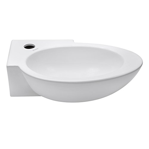 (Elanti Collection EC1603-R Elanti Porcelain Wall-Mounted Oval Compact Sink)