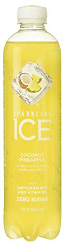 Sparkling Ice Coconut Pineapple Sparkling Water, with Antioxidants and Vitamins, Zero Sugar, 17 Ounce Bottles (Pack of 12) ()