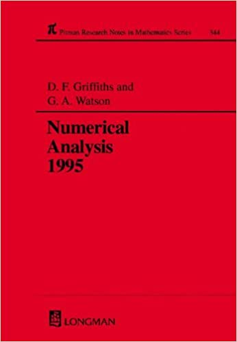 Amazon com: Numerical Analysis 1995 (Chapman & Hall/CRC Research