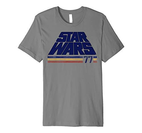 Star Wars Classic Retro Logo Striped '77 Premium T-Shirt