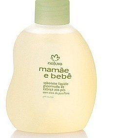 Linha Mamae Bebe Natura - Sabonete Liquido Glicerinado da Cabeca aos Pes 50 Ml - (