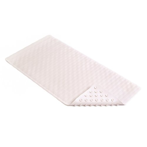 Con-Tact Brand Rubber Bath Mat, White Wave, 36'' x 18'' by Con-Tact