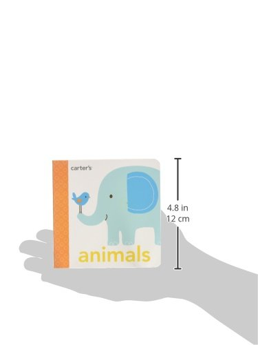 C.R. Gibson Animals Cardboard Baby Book Tactile Books, 4.7 x 4.6 x 0.7 inches, 1 Piece