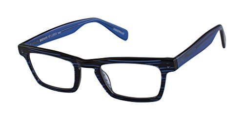 Brewer Street - Rectangular Trendy Fashion Reading Glasses for Men and Women - Seaboard Blue Ice (+1.75 Magnification Power) (Scojo Reading Glasses Street)