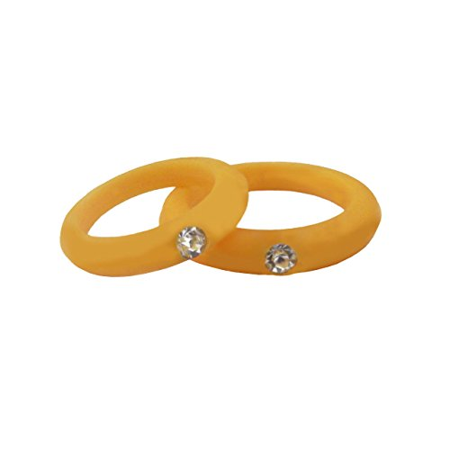 Nak Fitness Women S Silicone Wedding Band With Rhinestone Safe And