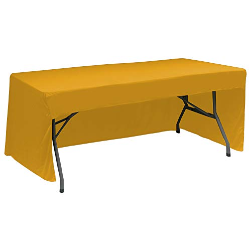ABCCANOPY 6 FT Rectangle Tablecloth Table Cover for Rectangular Tables in Washable Polyester-Great for Buffet Table, Parties, Holiday Dinner, Wedding & More(Gold)