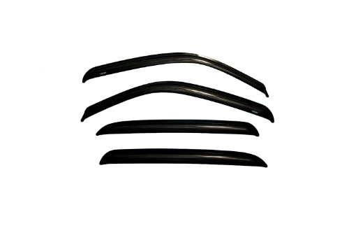(Auto Ventshade 94355 Original Ventvisor Side Window Deflector Dark Smoke, 4-Piece Set for most 2001-2006 GM Full Size Crew Cab Trucks and SUV's - Consult application guide to verify fitment Also fits 2007 HD Classic Crew Cab Models)