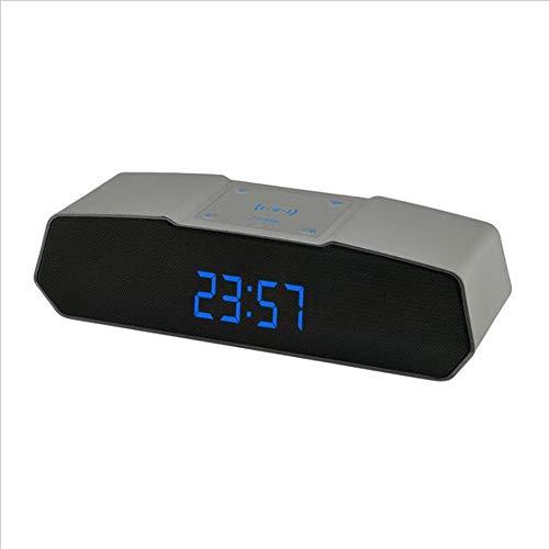 YUUMI Wireless Charging Stereo Bluetooth Speaker Digital Screen Display Card Audio App