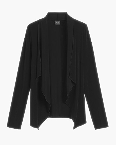 Chico's Women's Travelers Classic Easy Drape Jacket Size 12/14 L (2) Black by Chico's (Image #3)