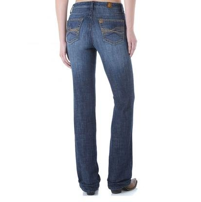 Wrangler Women's Aura Instantly Slimming Jean With Booty up Technology, Dark Blue, 22 - Slimming Jeans Aura Instantly