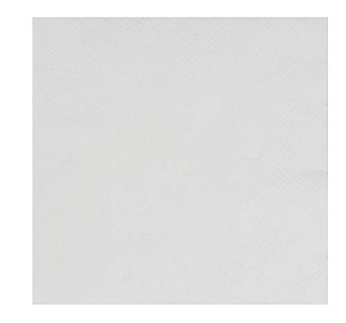 White Cocktail Napkins - 500-Pack Disposable Paper Napkins, 2-Ply, Plain White Party Supplies, Bulk Catering, Restaurant, Buffet Supplies, Folded 5 x 5 Inches