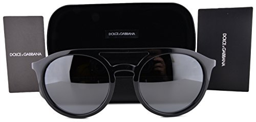 Dolce & Gabbana Sunglasses DG6101 Shiny Black Gunmetal w/Gray Mirror Lens 5016G DG - Robert Marc Sunglasses
