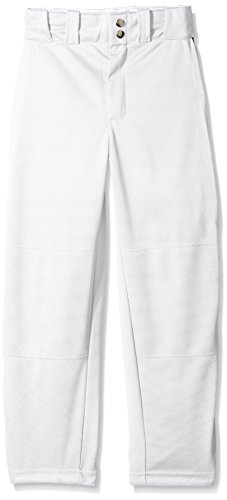 Wilson Youth Classic Relaxed Fit Piped Baseball Pant, White/Black, Large