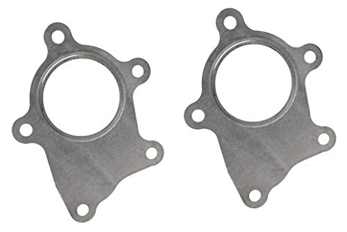CarXX Stainless Steel T3/T4 Turbo Discharge 5 Bolt Gasket Compatible with Garrett Precision PTE Turbocharger (T3/T4) Pack of 2 ()