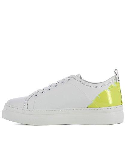 Msgm Damen 2441mds02070 Weiss Leder Sneakers