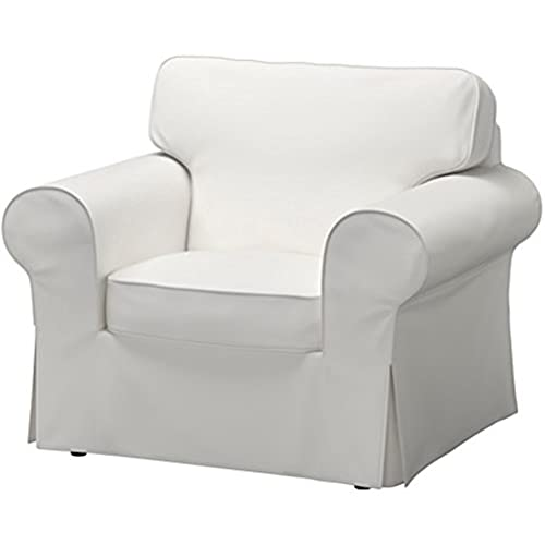 The Dense Cotton Ektorp Chair Cover Replacement Is Custom Made For Ikea  Ektorp Armchair Cover, A One Seat Sofa Slipcover Replacement (white)