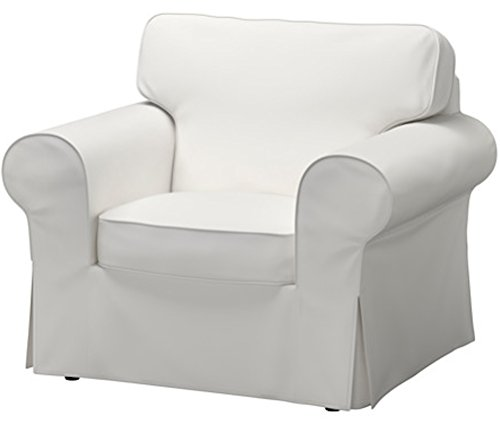 The Dense Cotton Ektorp Chair Cover Replacement is Custom Made for IKEA Ektorp Armchair Cover, A One Seat Sofa Slipcover Replacement (White) ()
