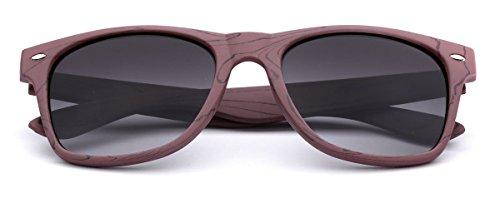 Print Smoke Gradient Sunglasses Frame Rose Wood Brown Snv7w4f