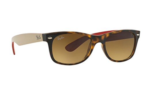 Ray-Ban Matte Havana Wayfarers RB 2132 618185 52mm + SD Glasses + Cleaning - Ray Ban Red 2132