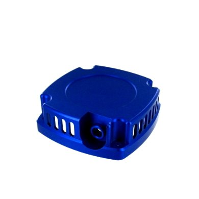 050034 blue aluminum engine cover - 1