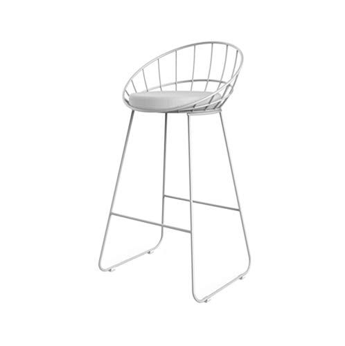 Wrought Chairs Bar Iron - Rui Rui Metal Wire Bar Chair - Simple Bar Stool Wrought Iron Bar Stool High Stool Modern Dining Chair Bar Stool (Color : White, Size : 424275cm)