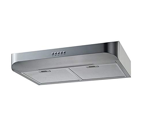 Winflo 30 in. Convertible Under Cabinet Range Hood in Stainless Steel with Push Button, LED Light and Aluminum Filters