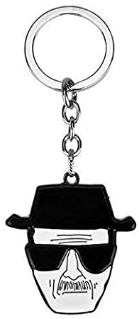 Liz Collection Inspired by Breaking Bad Keychain Chemical Symbol Br Ba Metal Pendant Men Car Key Chain Chaveiro Jewelry Favorite Gifts Black