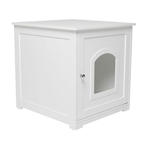 zoovilla Kitty Litter Loo - Hidden Litter Box Furniture, White
