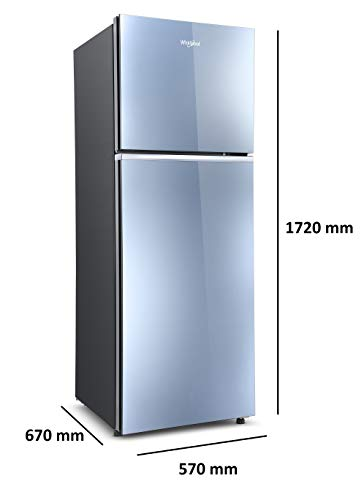 Whirlpool 292 L 2 Star Frost-Free Double Door Refrigerator with Glass Door (NEOFRESH GD PRM 305 2S, Crystal Mirror) 2021 July Frost-free refrigerator; 292 litres capacity Energy Rating: 2 Star Warranty: 1 year on product, 10 years on compressor