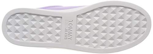 Flatform pastel Tommy Sneaker 519 Jeans Morado Para Mujer Zapatillas Lilac TTSWHfc