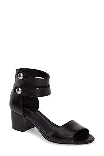 Open Sandals Toe Michael Kors (Michael Michael Kors Womens Maisie Leather Open Toe Casual, Black, Size 9.0)