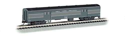 Bachmann Industries Smooth Side New York Central N-Scale Baggage Car, 72'