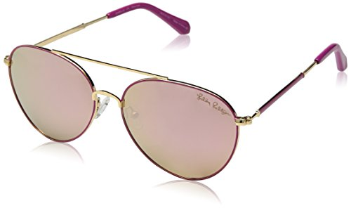 (Lilly Pulitzer Women's Isabelle Polarized Aviator Sunglasses, Pink, 56)
