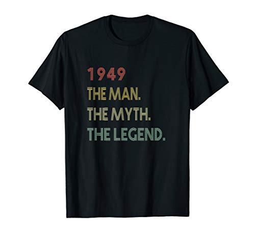 The Myth The Legend 1949 71st Birthday Gifts 71 years old T-Shirt (Presents 70th Birthday)
