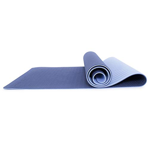 ProsourceFit Natura TPE Yoga Mat 1/4″ (6mm) Thick, 72″ Long, Reversible with High- Density Cushion & Non-slip Texture, Eco-conscious