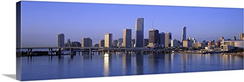 Canvas On Demand Premium Thick-Wrap Canvas Wall Art Print entitled Skyline Miami FL - Downtown Fl Miami