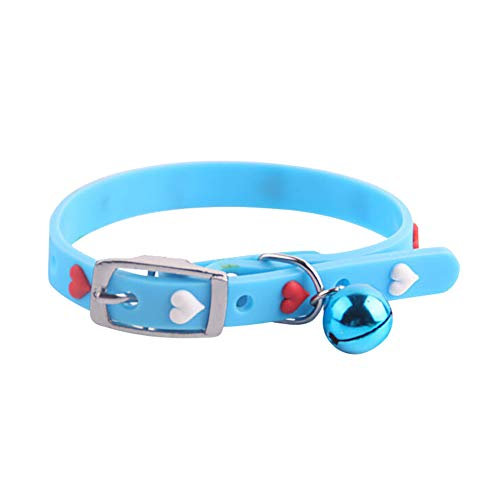 Beck Necklace - Braceus Candy Color Pet Collar, Puppy Dog Cat Bell Adjustable Necklace Kitten Chain Neck Band Strap Blue