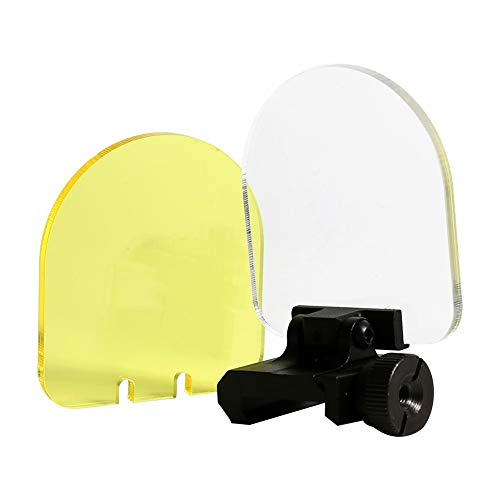 Vobor Tactical Scope Lens Protector - Foldable Protective Sights Lens Screen Cover Shield,White & Yellow Optic Lens Screen Cover Shield for Hunting Shooting (Protective Covers Scope)