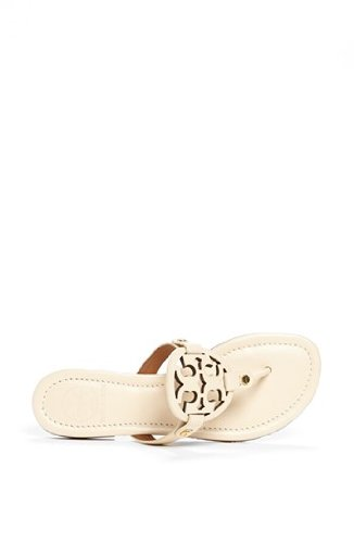 Tory Burch Miller Metallic Sandal Womens (7.5, Sand Patent) by Tory Burch (Image #5)