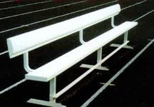 All Star Bleachers, Aluminum Frame Team Benches With Backs, Tmbnch-B21, Seats: 14, Weight: 265, Csba21 by ALL STAR BLEACHERS