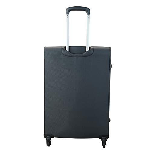 VIP Polyester 71 cms Grey Softsided Check-in Luggage (STCANW71GMG)