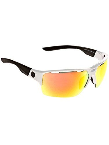 Dragon EnduroX Sunglasses - White Black Frame with Red Ionized (Lady Dragon Glass)