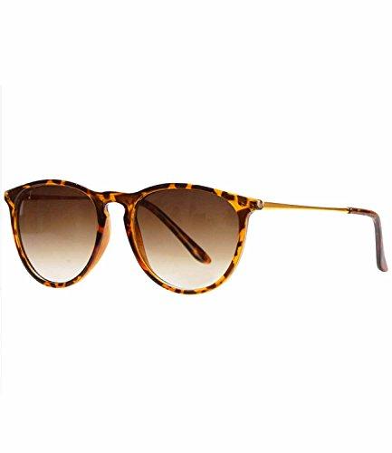 caripe Retro Sonnenbrille Hornbrille Brille -139 (big - Hornstyle - braun)