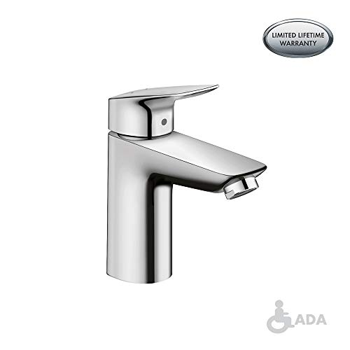 hansgrohe Logis  Modern 1-Handle  6-inch Tall Bathroom Sink Faucet in Chrome, 71104001