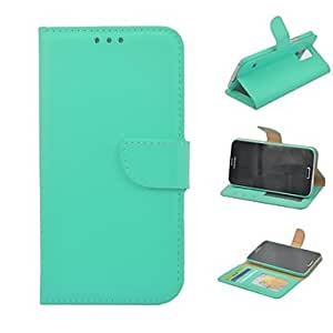 ZL High Quality Solid Color PU Leather Full Body Case with Stand and Card Slot for Samsung Galaxy S5 I9600(Assorted Colors) , Pink