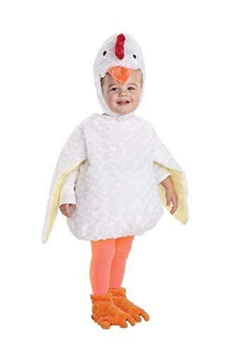 Underwraps Baby's Chicken Belly-Babies, White, Medium -